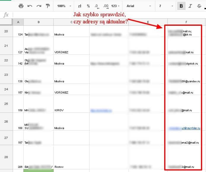 Jak szybko oczyścić bazę emaili? Jak sprawdzić, które z nich są nadal aktualne i żywe?