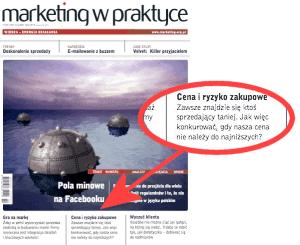 Marketing w Praktyce - Cena i ryzyko zakupowe